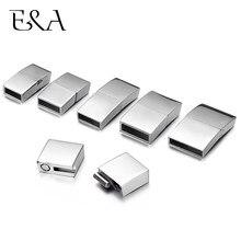 Fermoirs magnétiques pour bracelets en acier inoxydable, 2 pièces, 8x3mm, 10x3mm, 12x3mm, 15x3mm
