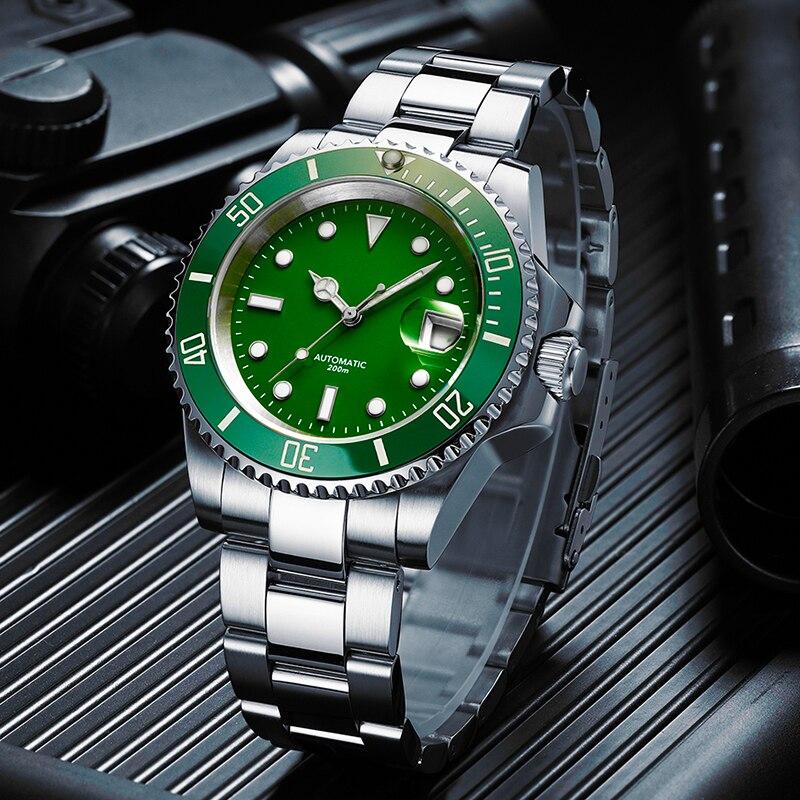 2020 relógio de mergulho 200m fantasma verde japão 2115 relógios de quartzo men c3 calendário super luminoso relógio de mergulho relógios masculinos da forma - 3
