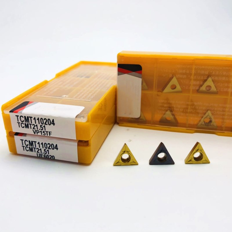 Carbide insert TCMT110204 VP15TF UE6020 metal turning tool external turning tools CNC tool lathe tool <font><b>TCMT</b></font> <font><b>110204</b></font> milling cutter image