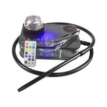 Shisha Wasserpfeife Modernen Acryl Shisha Komplette Kit Tragbare Shisha Nargile Rauchen Wasser Rohr Mit Fernbedienung LED Licht Box