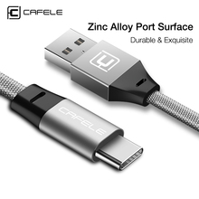 Cafele USB Type C Cable For Xiaomi Redmi Note 8 7 k20 pro Phone Fast Charging Wire Samsung S10 Type-C Device