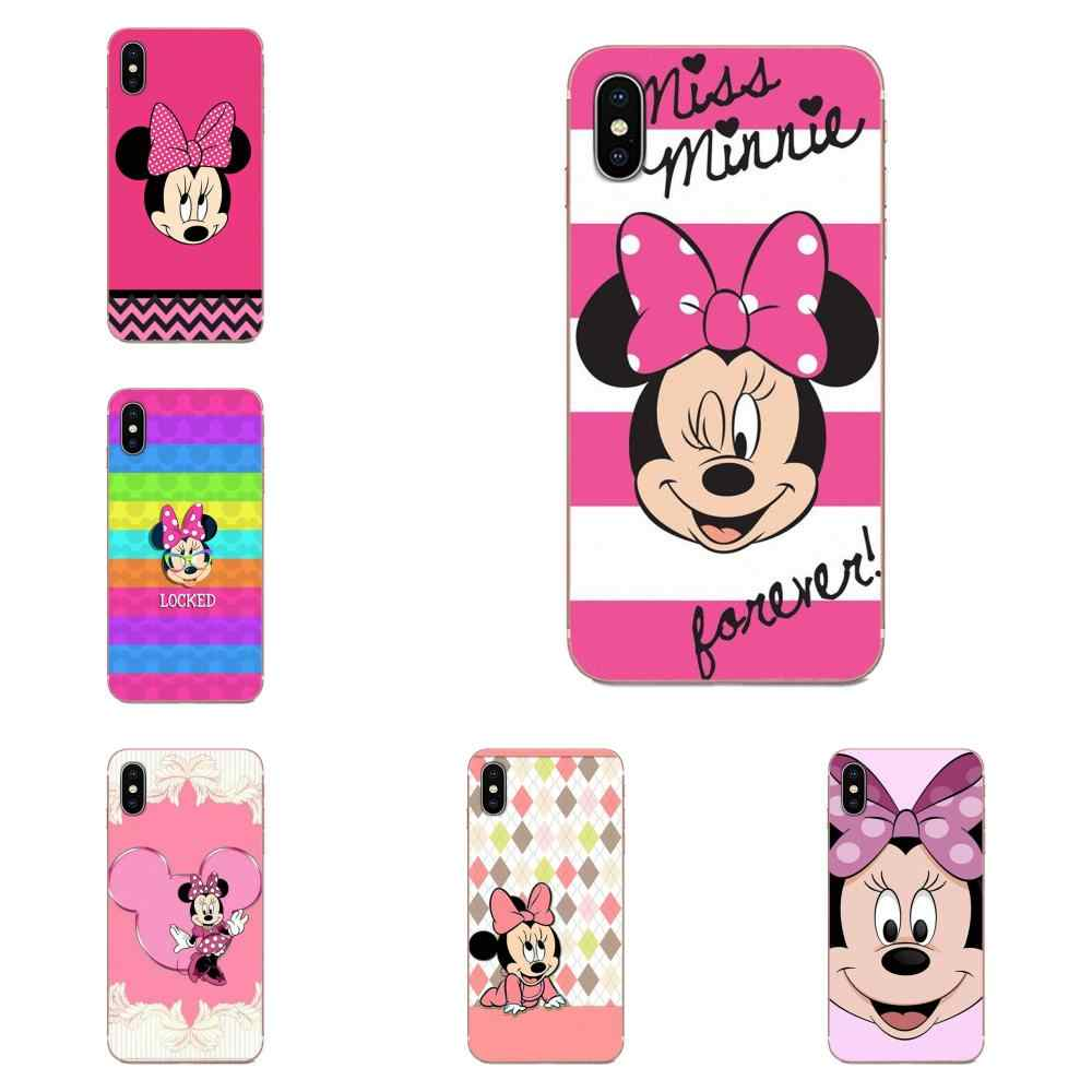 Minnie Mouse Voor Galaxy Alpha Note 10 Pro A10 A20 A20E A30 A40 A50 A60 A70 A80 A90 M10 M20 m30 M40 Tpu Soft Black Telefoon Case