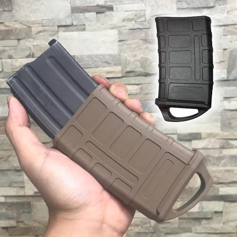 1Pcs M4/M16 Fast Magazine Rubber Holster Hunting Tactical Rubber Pouch Sleeve Rubber Slip Cover Outdoor CS Toy Gun Accessories