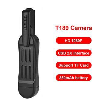 T189 długopis Mini kamera Full HD 1080P tajna kamera poręczny długopis Mini DVR Mini DVR cyfrowy Mini aparat DV USB 2 0 interfejs tanie i dobre opinie ALLOYSEED CN (pochodzenie) 1080 p (full hd) NONE Brak