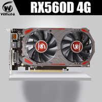 VEINIDA carte graphique Radeon Rx560D GPU 4Gb Gddr5 128bit Pci Express 3.0 Directx12 jeu vidéo pour ordinateur de bureau