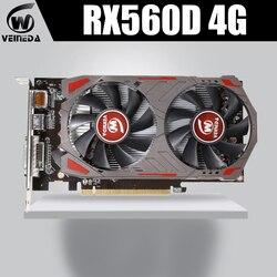 Veinida Card Đồ Họa Radeon Rx560D GPU 4 GB Gddr5 128bit PCI Express 3.0 Directx12 Video Chơi Game Cho Máy Tính Để Bàn