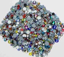 цена на Mixed Color  AAAAA Quality Flatback Hot Fix Rhinestones, Glass Strass Hotfix Iron On Rhinestones For Fabric garment