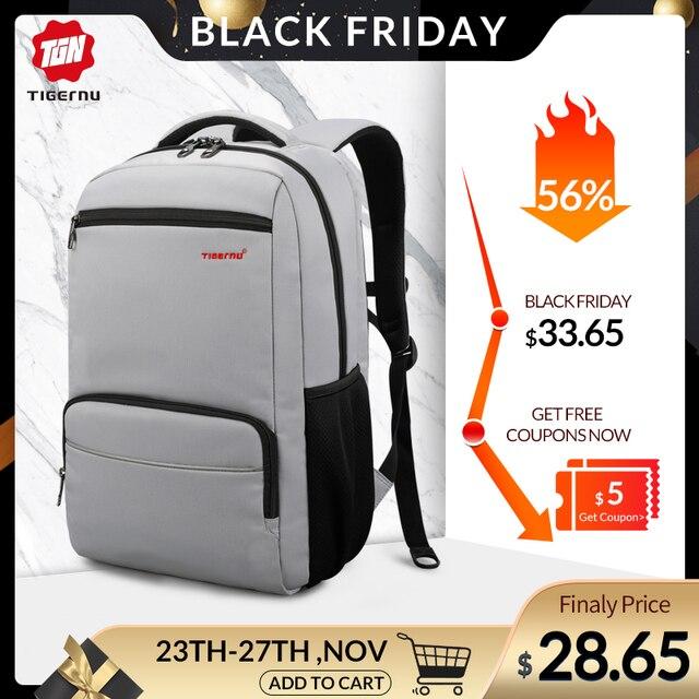 Tigernu marque Anti vol 15.6 pouces hommes ordinateurs portables dentreprise sac à dos USB Charge hommes Mochila sac à dos étanche sac décole pour les adolescents