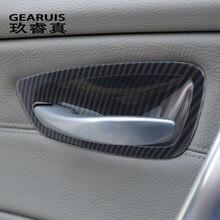 Pegatinas y calcomanías de fibra de carbono para puerta Interior de BMW, accesorios de decoración para coche, estilo 1 serie E81