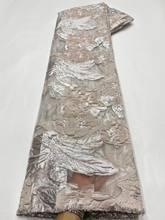 5 metros nova tecido jacquard brocado africano floral organza pano nigeriano material francês tule net para costura vestido poz30