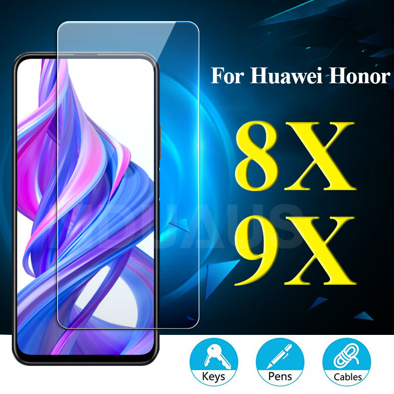 9H Tempered Glass On For Huawei Honor 9X 8X 8A 8C 20i 10i 9i Screen Protector For Honor 20 V20 V10 V9 Play Protective Glass Film