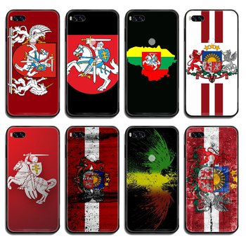 Lithuania Latvia flag Phone case cover hull For Xiaomi Redmi Mi Note 3 5 6 8 9 A1 2 Max3 Mix2 X SE Lite Pro black bumper trend image