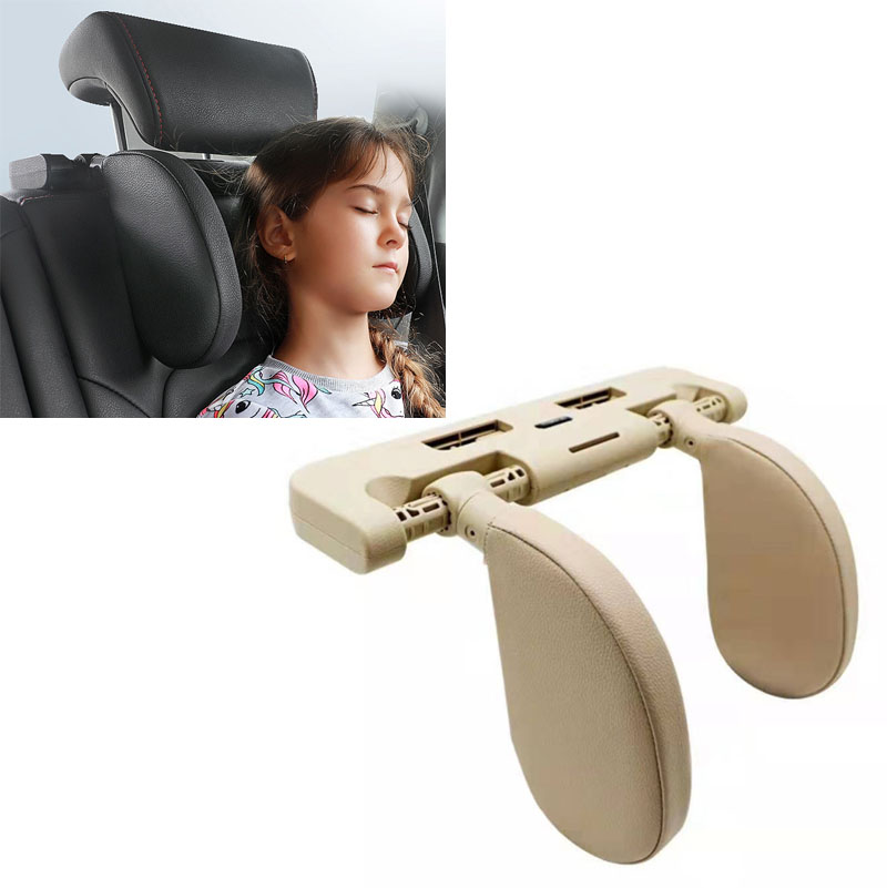 Car seat headrest sleep side head support for Skoda Octavia Fabia Rapid Superb Yeti Roomster image