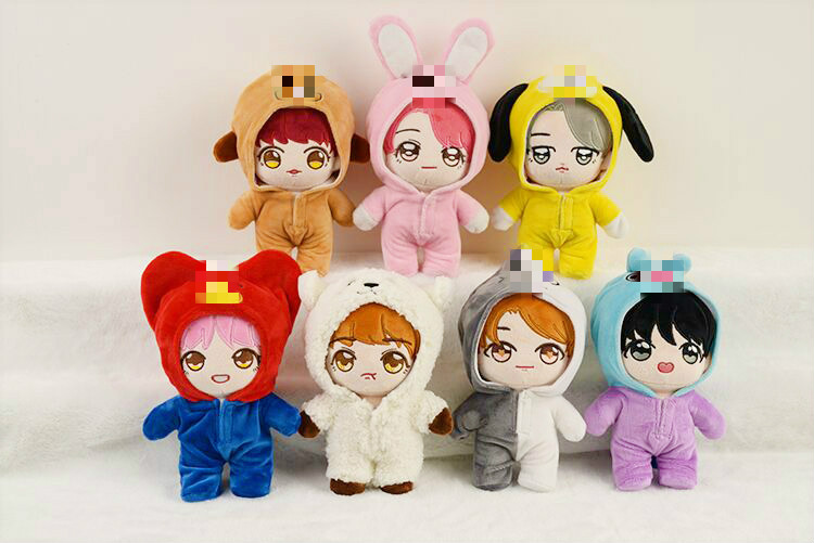 [MYKPOP]KPOP Doll's Clothes And Accessories: Doll & Pajama  For 20cm Dolls KPOP Bangtan Fans Collection SA19103001