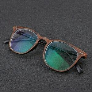 Image 4 - NYWOOH fotochromowe wykończone okulary dla osób z krótkowzrocznością kobiety mężczyźni imitacja drewna rama Student 1.56 soczewka asferyczna krótkowzroczne okulary