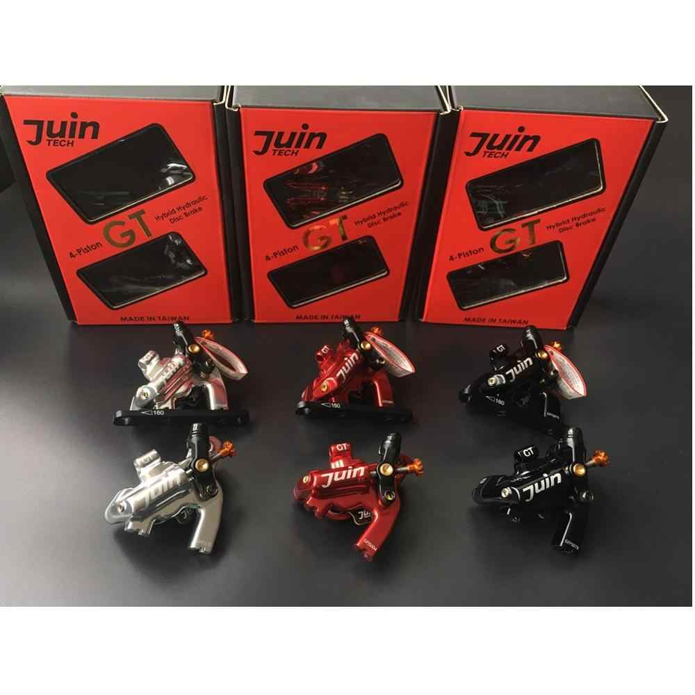 Juin Tech GT-F Line Pull Hydraulic Disc Brake caliper Road Flat Mount 160mm RED