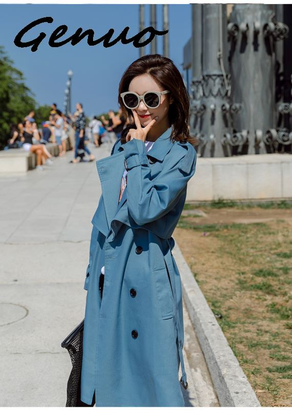 Genuo Fashion Windbreaker Coats Long Section 2019 New Spring Autumn Coat Women   Trench   Coats Korean Loose Casual Ladies Outerwear
