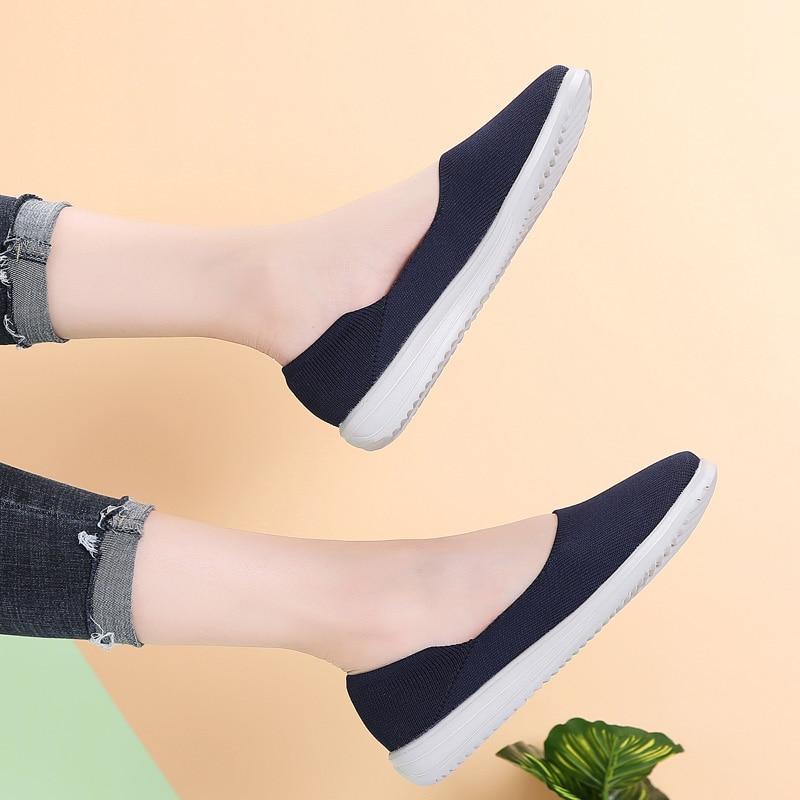 Image 3 - STQ/Женская тканая обувь на плоской подошве; Женские лоферы на плоской подошве; Мокасины без шнуровки на плоской подошве для тенниса; Кроссовки; 7758Обувь без каблука   -