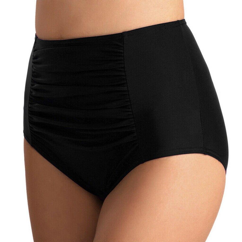 Сексуальные Плавки бикини с высокой талией купальники шорты со складками ванный комплект Плавки размера плюс, женские купальные костюмы дл...