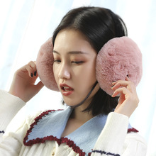 Earmuff Ear-Warmer Fluffy-Fur Winter Adult for Children And Detachable Rabbit-Fur Imitation