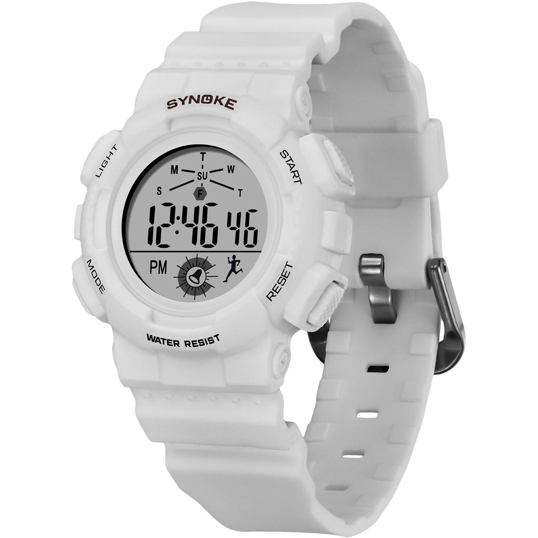 SYNOKE Children% 27s Часы Мода Спорт Повседневный Цветной LED 5 бар Водонепроницаемый Повторитель Дети Цифровые Часы Студенты Часы Relgio