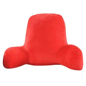 Soft Husband Pillow of Plush Material for Lumbar Support in Chair and Sofa with Arm Support