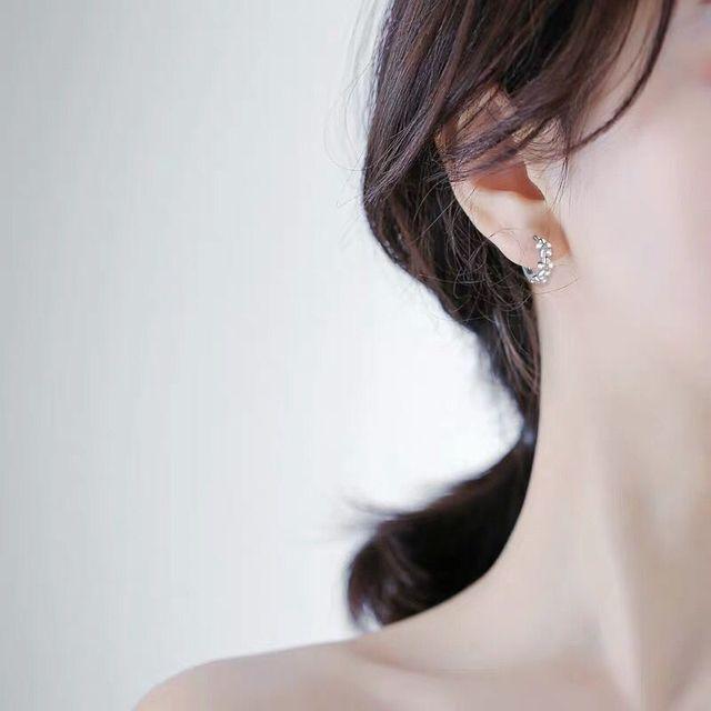 925 Sterling Silver Small Flower Earrings  4