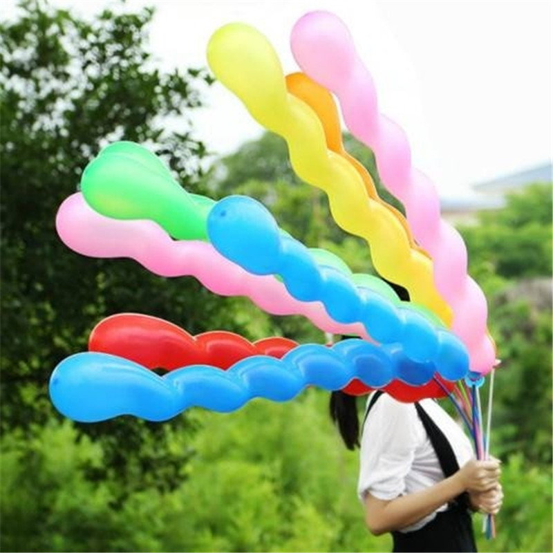 100pcs lot Long Strip 36inch Screw Thread Latex Balloon Float Air Balls Inflatable Wedding Birthday Party Baloon Decoration Toys in Ballons Accessories from Home Garden