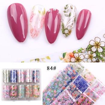 1set/lot 2.5*100cm Butterfly Spring Mix Flower Starry Sky Nail Foils set Transfer Sticker DIY Manicure Decoration Decals - 84