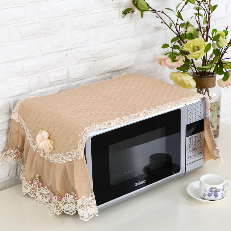 Beautiful Microwave Oven Dust Cover Microwave Oven Cover Towel Kitchen Oven Cover Oil Proof Cloth Dust Cloth