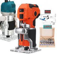 110V/220V Elektrische Trimmer Max 1500W Holz Laminat Palm 6,35mm Router Elektrische Hand Trimmer Rand pvc-h-streifen schreiner Holzbearbeitung Werkzeug & Router