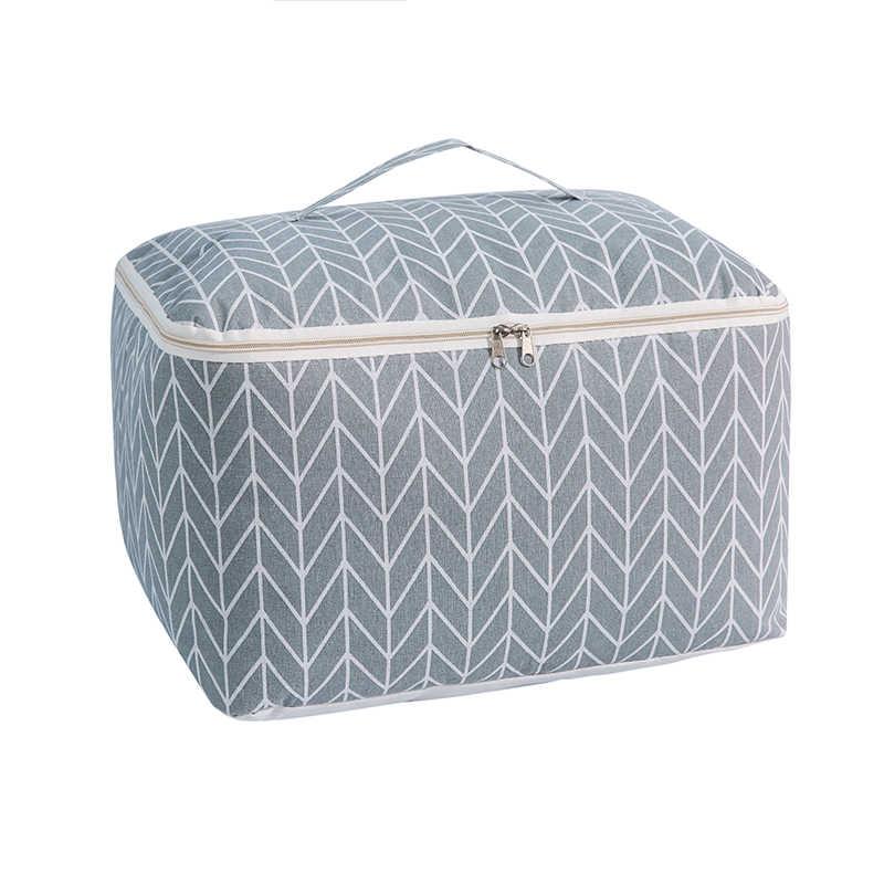 Новый большой хлопковый льняной складной мешок для хранения домашнего хранения организации одеяло игрушка контейнер для хранения, ящики органайзер для одежды дорожная сумка