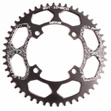 Roda dentada da bicicleta mountain bike pedaleira liga de alumínio estreita larga roda dentada bcd 104 40/42/44/46/48/t redonda montanha
