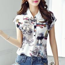 Women Spring Summer Style Chiffon Blouses Shirt Lady Casual