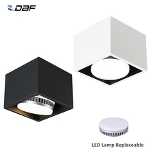 [DBF]Angle Adjust Square LED Surface Mount Downlight with Replaceable LED Lamp 7W 9W 12W LED Spot Light for Living room Bedroom