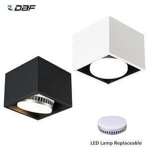 Image 1 - [DBF]Angle ajuster carré LED montage en saillie Downlight avec lampe à LED remplaçable 7W 9W 12W LED Spot pour salon chambre à coucher