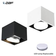 [Dbf] ângulo ajustar o quadrado conduziu a montagem em superfície downlight com lâmpada led substituível 7w 9w 12w conduziu a luz do ponto para o quarto da sala de estar