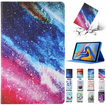 Leather PU Cover Case For Samsung Galaxy Tab A 10.1 2019 SM-T510 SM-T515 T510 T515 Painted Stand Soft Shockproof Tablet Shell(China)