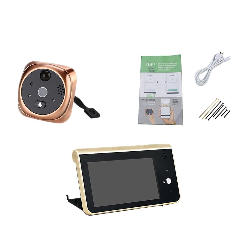 4.3 Inch Wifi Peephole Doorbell Video Visual Intercom Smart Wireless Security Doorbell 720P Camera Night-Vision