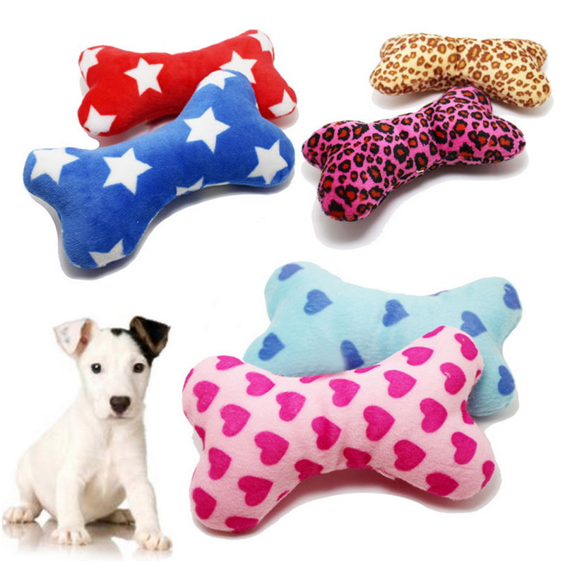 Cute Strip Plush Pet Dog Cat Sound Squeakers Squeaky Toy for Small Dog Puppy Chew Play Bone Toy Pet Product in Dog Toys from Home Garden