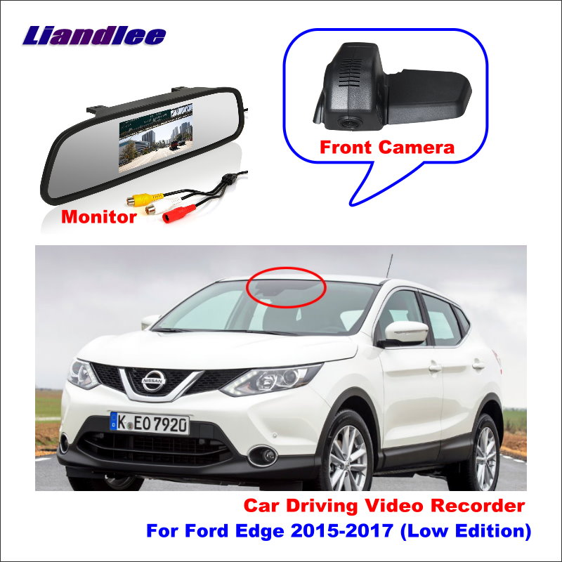Liandlee For Ford Edge 2015-2017 (Low Edition) Car DVR Wifi Video Recorder Dash Cam Camera Night Vision Control Phone APP 1080P image