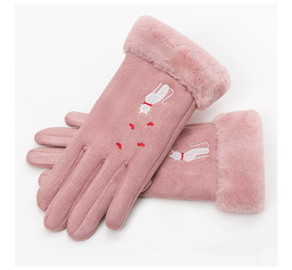 Winter Women Touch Screen Gloves with Embroidery made with a Special Conductive Fabric into Finger Tips for fast Navigation of All Touch Screen Device 12