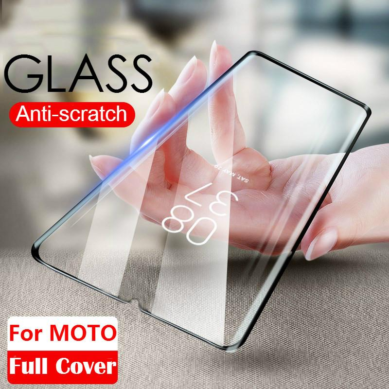 Black 9H Tempered Glass For Motorola Moto One MACRO Action Vision Zoom Flim Moto G8 Plus G8Play P40 P50 Screen Protector Glass(China)