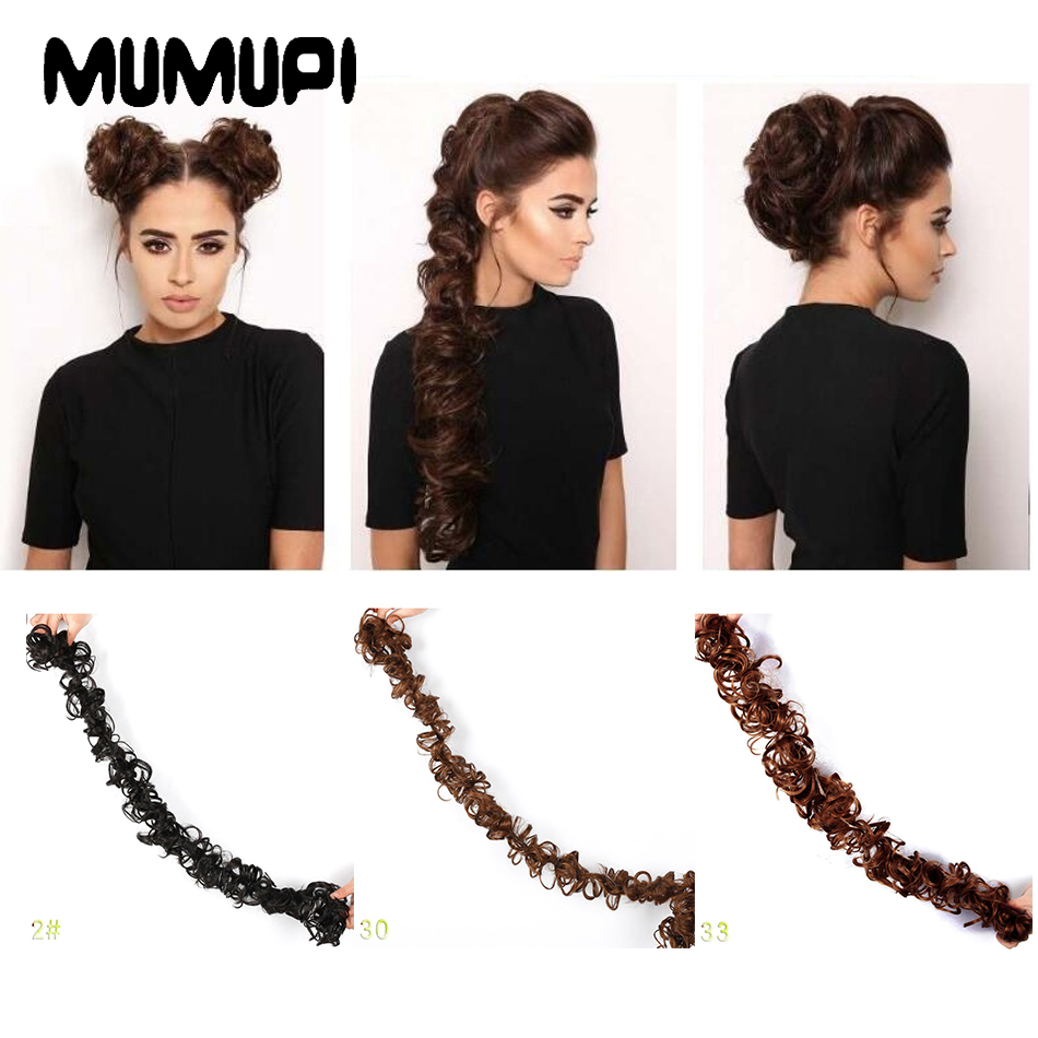 MUMUPI DIY Hairstyle Beauty Chignon Long Hair Bun Soft Natural Synthetic Hair Fiber Headwear