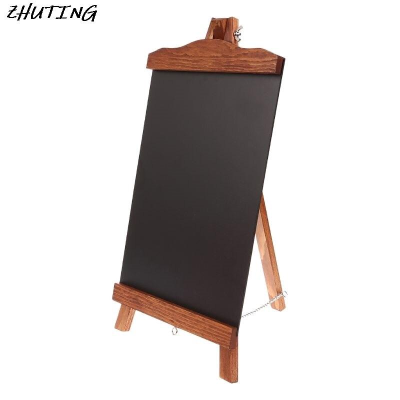 Vintage Desktop Memo Message Blackboard Easel Chalkboard Kids Writing Board Sign Classroom Restaurant Supplier