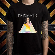 Katy Perry Prismatic World Tour Logo Men's Black T-Shirt Size S M L XL 2XL 3XL Classic Tops Tee Shirts title mma logo tee white youth xl