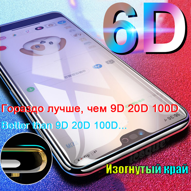 6D Tempered Glass for Xiaomi Mi 10t Pro 9 Mi9 A2 Lite Play mix 2s 3 Poco X3 C3 Redmi 9c Note 8 9 Pro 7 8t Glass Screen Protector