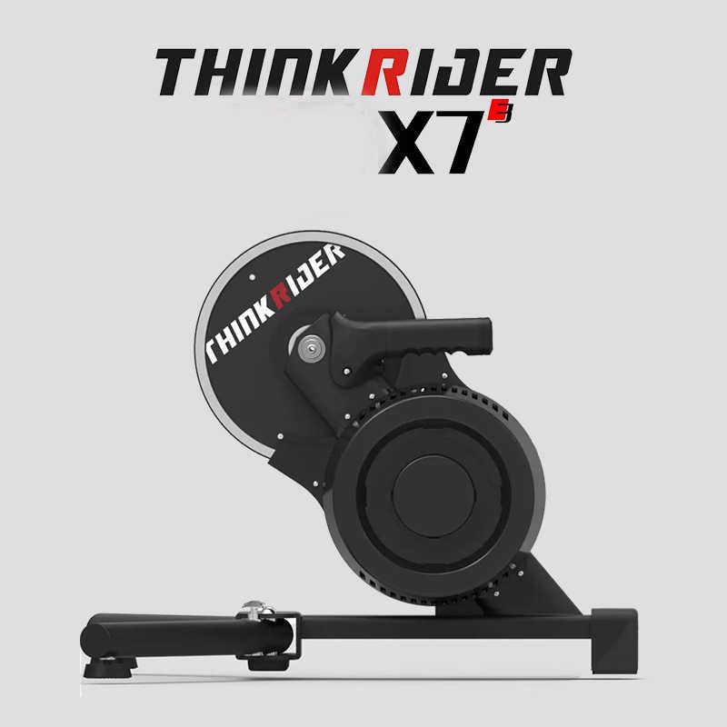 2019 nuevo Thinkrider X7 3 MTB bicicleta de carretera bicicleta inteligente entrenador de bicicleta de fibra de carbono marco incorporado medidor de potencia entrenador bicicleta plataforma