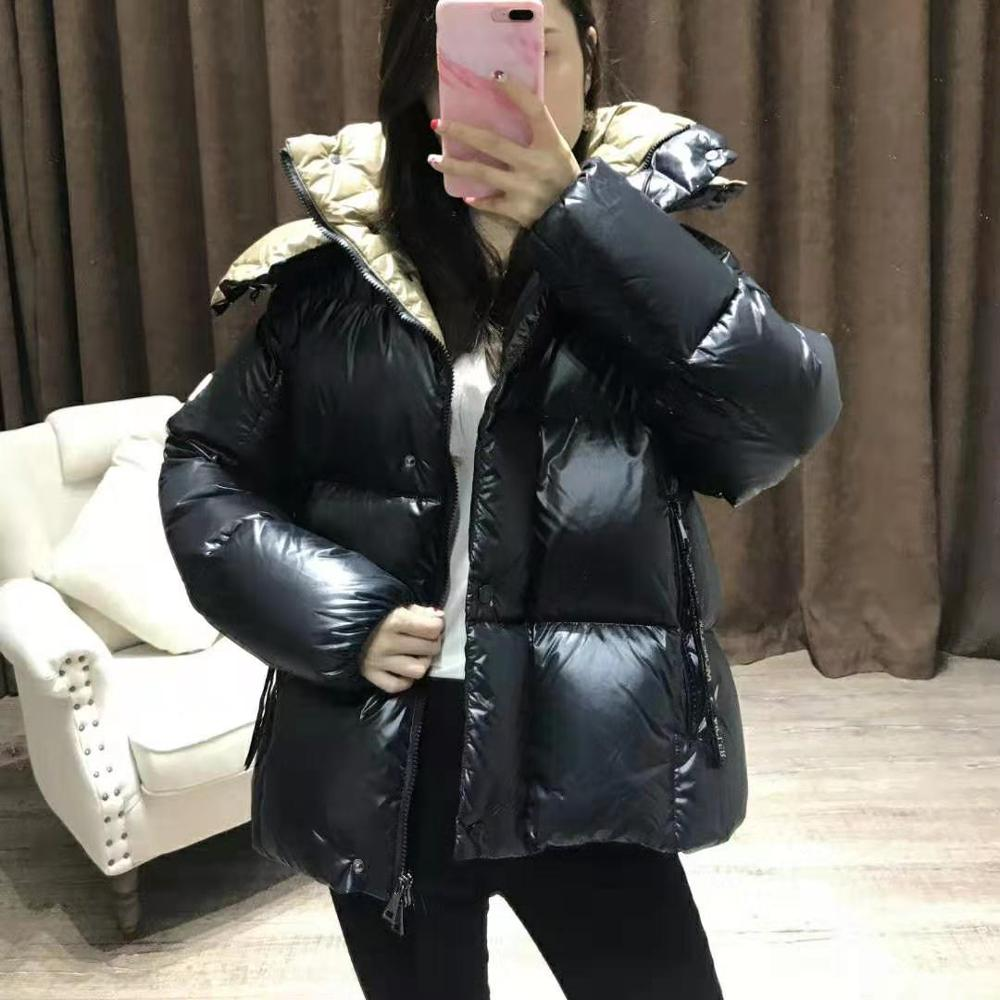 2019 Winter Brand Monclair Women Down Coat Ultra Light Down Jacket Green Black Down Puffer Jacket Hooded Girl Lady