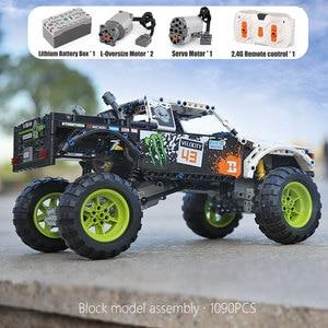 Image 2 - Juguetes técnicos para coches 4X4 fuera de la carretera bloques de construcción modelo Vehile 29256 coche clásico Compatible con Legoing 42099 regalos de navidad